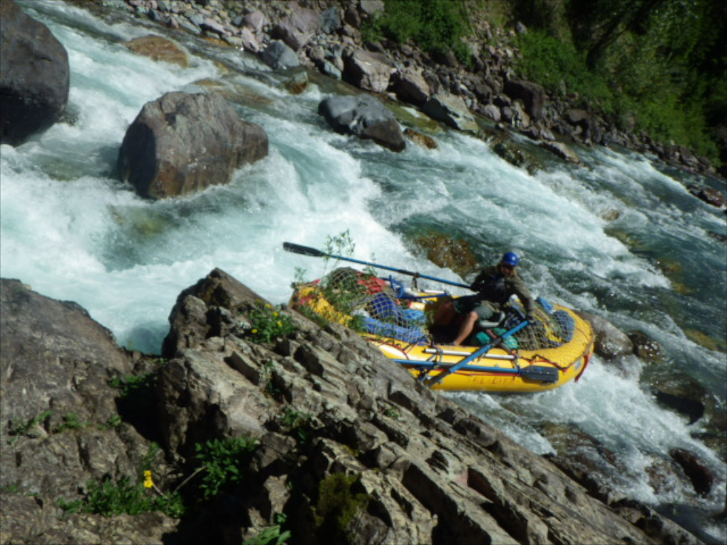 Our gear-testing boatman loved his Astral Brewers when working the Middle Fork of the Flathead River